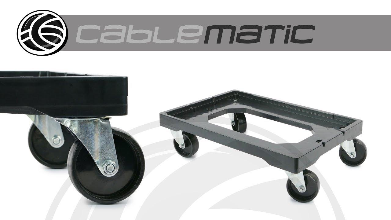 Plataforma con ruedas para transporte de cajas eurobox 60 - Caja herramientas con ruedas ...