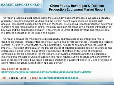 China Foods, Beverages & Tobacco Production Equipment Industry