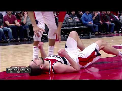 Tomáš Satoranský Nasty Injury Bobby Portis Ejected | Bulls vs Wizards 2/10/18