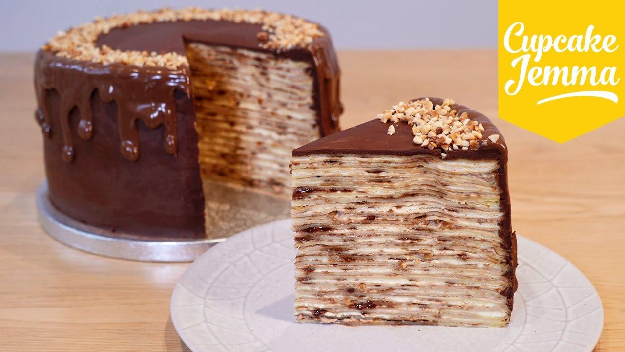 Cupcake Jemma Cake Recipe: How To Make An EPIC Nutella Crepe Pancake Cake!