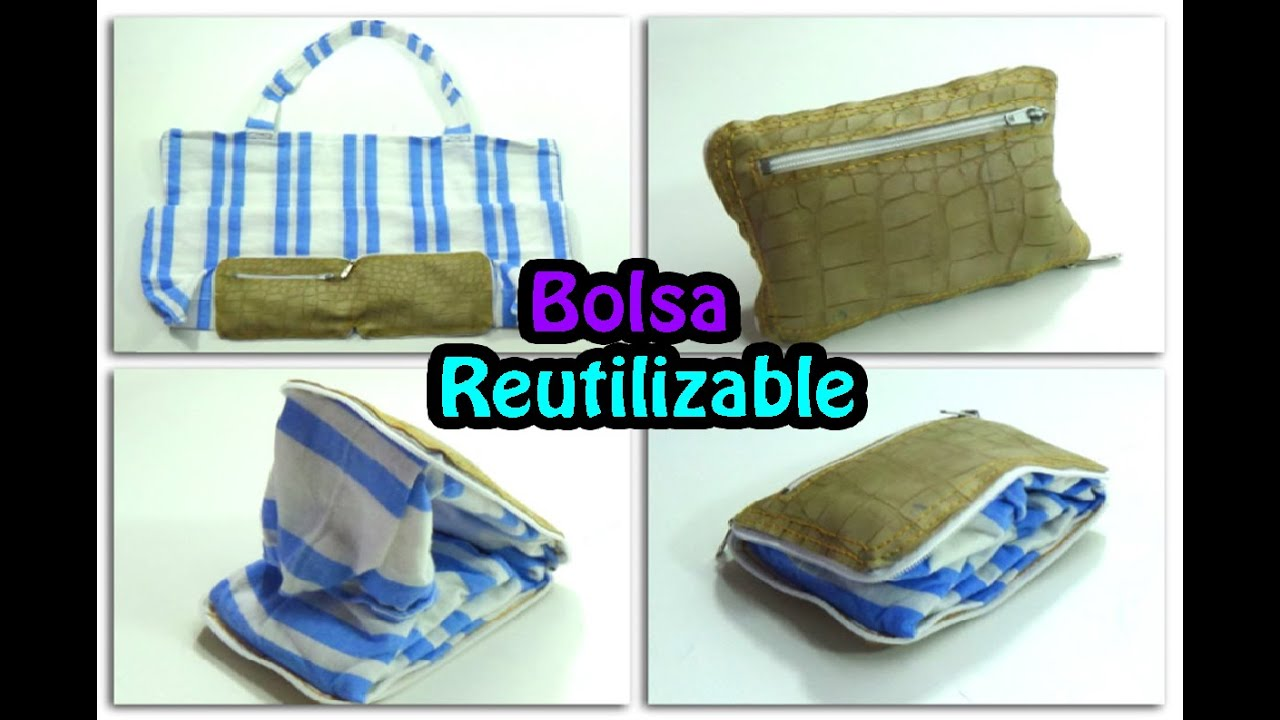 120 manualidades bolsa reutilizable y compactable - Bolsas de tela manualidades ...