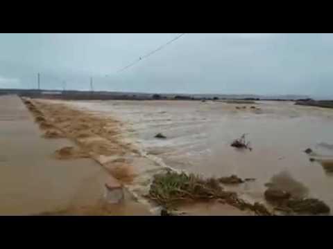 فيضان واد لمسيد بمدينة طانطان