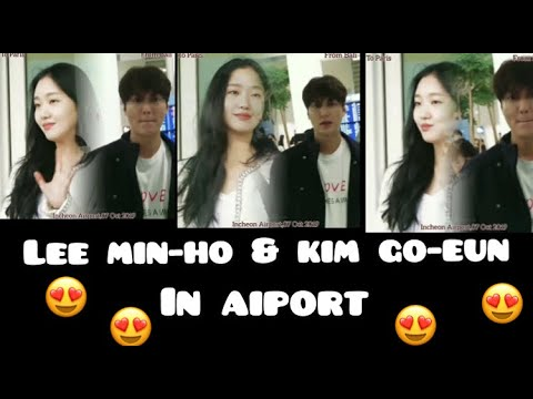 Lee Min-Ho AND Kim Go-Eun In AIPORT THEY ARE LOOK AMAZING