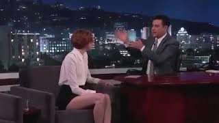Karen Gillan interview on Jimmy Kimmel Show