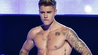 Justin Bieber Reveals Massive Torso Tattoo -- See the Pics!