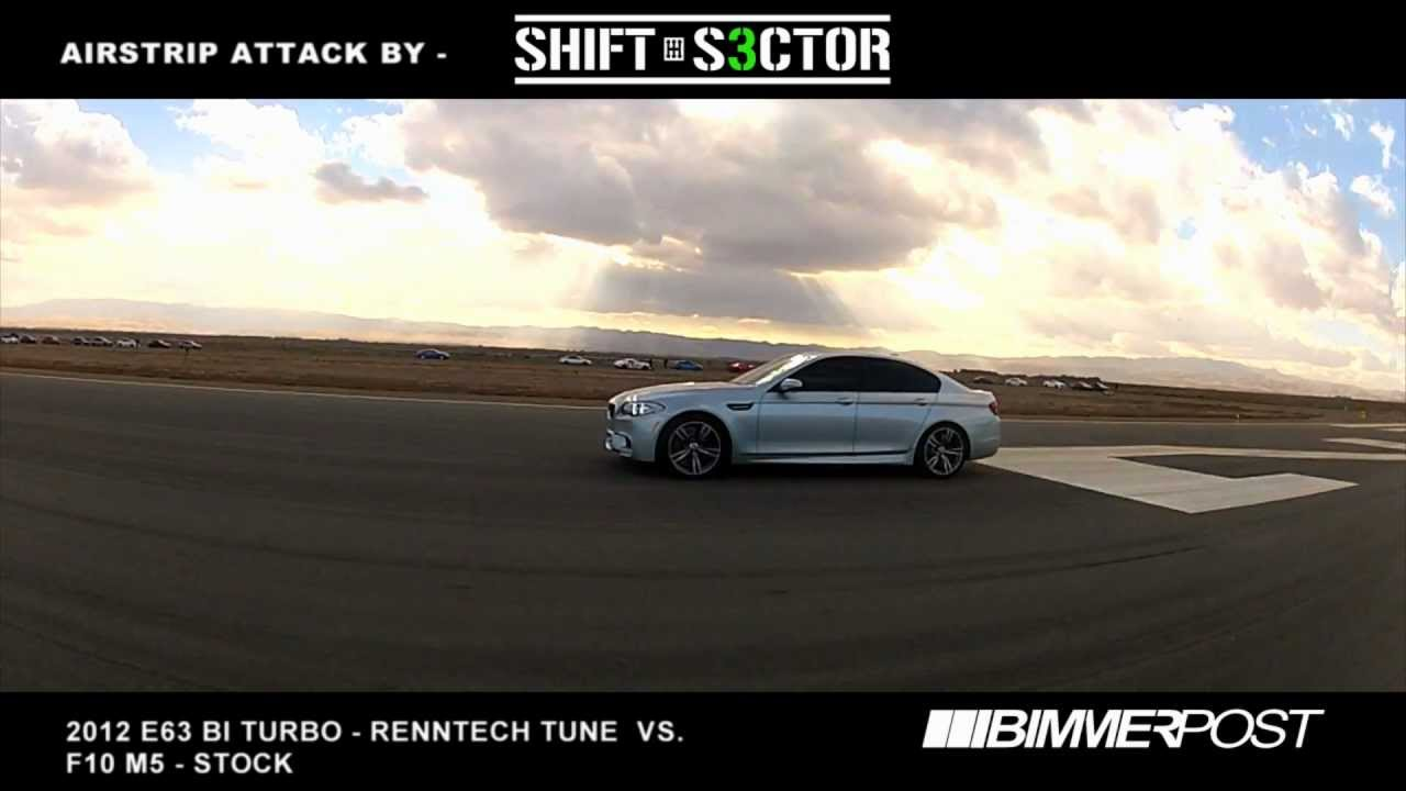 Airstrip Attack: Stock F10 M5 vs Renntech E63 Bi Turbo