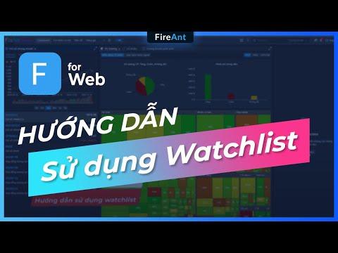 FireAnt - Hướng dẫn sử dụng watchlist