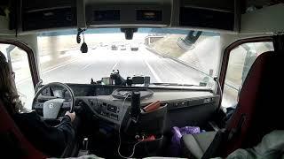 Jazda A14 w Niemczech, German autobahn  A14 ride from the truck, Iwona Blecharczyk 2019/22