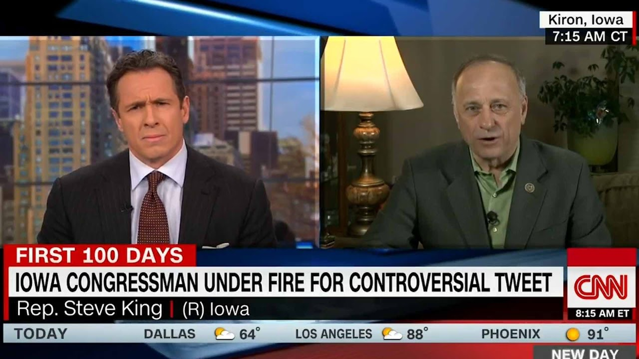 Iowa rep Steve King defends his controversial tweet on CNN ...