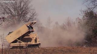 142nd Field Artillery Brigade M270 MLRS Live Fire Exercise