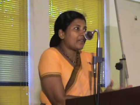 Mrs:Rathnalalani Jayakody 's speech