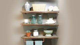 Wood & Copper Shelves Build | My Natural Element