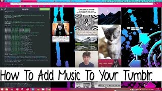 How To Add Music To Your Tumblr.