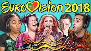 Eurovision 2018 reacted to by Adults!   Subscribe to Eurovision Song Contest: https://www.youtube.com/user/eurovision Watch all main React episodes (Kids/Teens/Elders/Adults/YouTubers): http://goo.gl/4iDVa SUBSCRIBE THEN HIT THE 🔔! New Videos 2pm PT on FBE! http://goo.gl/aFu8C Watch latest videos from FBE: https://goo.gl/aU5PSm  ADULTS REACT TO EUROVISION 2018. Watch to see their reactions!  Watch other Eurovision episodes! YOUTUBERS REACT TO EUROVISION SONG CONTEST  https://goo.gl/8qE1G5  ADULTS REACT TO EUROVISION 2017  https://goo.gl/TuLy9j  This episode features the following Adults: Brooklin https://www.instagram.com/brooklinf/ David Jason https://www.instagram.com/thisbejasonm/ Kaelyn https://www.youtube.com/c/KaelynCooperYoutubePage Sergio https://www.instagram.com/isergiofurtado/ Sharon https://www.instagram.com/SFredrickson/ Sheila https://www.instagram.com/sheilacuriel/ Shelby https://www.youtube.com/channel/UCjblE3v633IDK6qAPaAv9Bw  MERCH 👕 https://www.shopfbe.com  Follow Fine Brothers Entertainment: FBE WEBSITE: http://www.finebrosent.com FBE CHANNEL: http://www.youtube.com/FBE REACT CHANNEL: http://www.youtube.com/REACT BONUS CHANNEL: https://www.youtube.com/FBE2 FACEBOOK: http://www.facebook.com/FBE FACEBOOK: http://www.facebook.com/FBEShows TWITTER: http://www.twitter.com/fbe INSTAGRAM: http://www.instagram.com/fbe SNAPCHAT: https://www.snapchat.com/add/finebros SOUNDCLOUD: https://soundcloud.com/fbepodcast iTUNES (Podcast): https://goo.gl/DSdGFT GOOGLE PLAY (Podcast): https://goo.gl/UhL6bk MUSICAL.LY: @fbe TWITCH: https://www.twitch.tv/fbelive AMAZON: https://www.amazon.com/v/FBE  SEND US STUFF: FBE P.O. BOX 4324 Valley Village, CA 91617-4324  Creators & Executive Producers - Benny Fine & Rafi Fine Head of Production - Nick Bergthold Director of Production - Drew Roder Director of Post Production - Adam Speas Supervising Producer - Kyle Segal Producer - Ethan Weiser Associate Producer - Vartuhi Oganesyan, JC Chavez Production Coordinator - Cynthia Garcia Assistant Production Coordinator - Kristy Kiefer Post Supervisor - David Valbuena Editor - Jordan Towles, Cara Bomar Assistant Editor - Karen Rivas, Austin Miller, Nicole Worthington, Lizzy Siskind Production Assistant - Kyllis Jahn, Jayden Romero Studio Technician - Josh Hilton Set design - Melissa Judson Music - Cyrus Ghahremani  © Fine Brothers Entertainment.  ADULTS REACT TO EUROVISION SONG CONTEST 2018