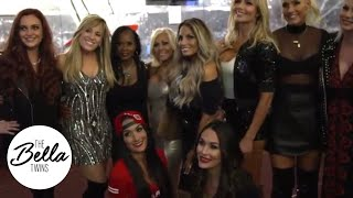 Stephanie, Trish and a cute moment with Maryse! The Bella Twins give backstage access to RAW 25