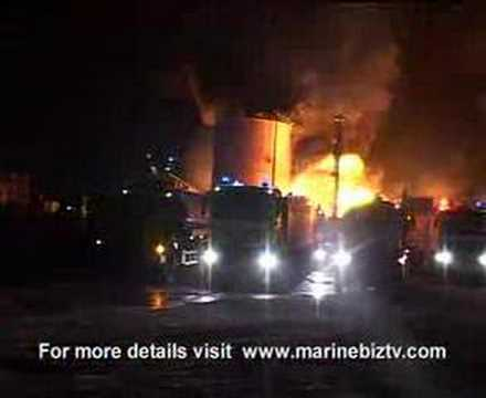 Sharjah Port Fire