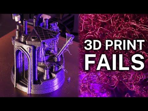 EPIC 3D PRINTER FAILS (TIMELAPSE) / OCTOLAPSES)