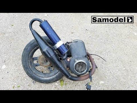 Как разобрать двигатель от скутера Honda Dio