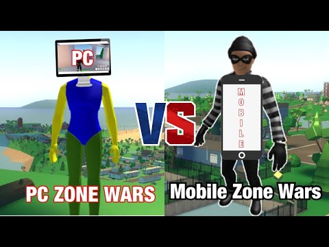 ZONE WARS Strucid MEMES| PC vs. MOBILE