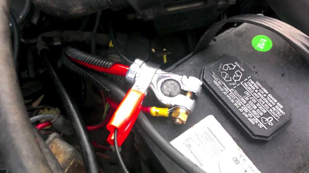 maxresdefault 89 cherokee battery cable replacement youtube 2004 jeep grand cherokee battery cable harness at panicattacktreatment.co