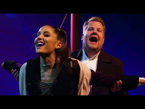 Ariana Grande & Corden RECREATE Titanic With Modern Songs