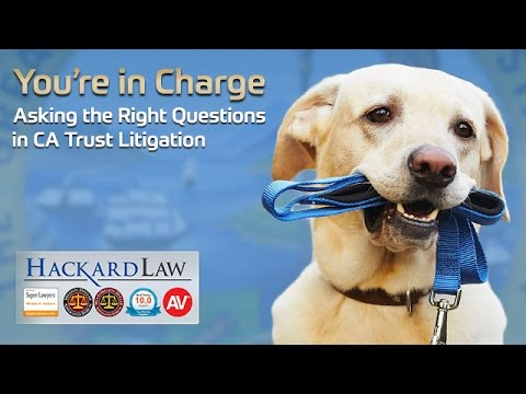 You're In Charge | Asking the Right Questions in CA Trust Litigation