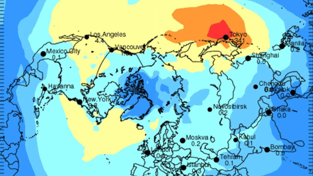Fukushima Radiation Raining Death Near You Short Version YouTube - Japan radiation map 2015
