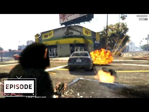 The most amazing GTA 5 video stars a flying chimp with a gun that fires cars, not bullets
