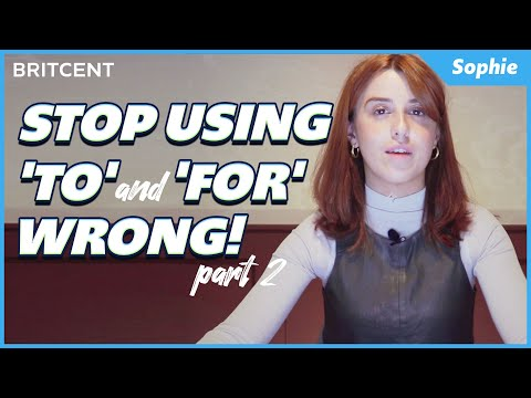 STOP Saying This Wrong! | How To Use 'To' and 'For' Correctly in 5 Minutes