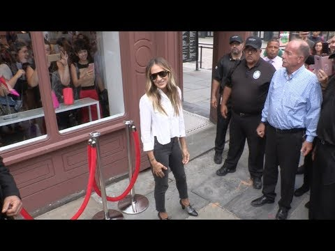 Sarah Jessica Parker at SJP Shoe store opening in New york