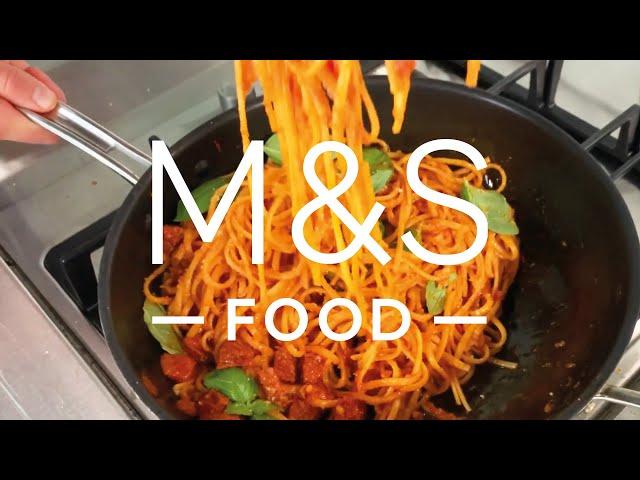 Chris' Smoky Tomato and Salami Linguine | M&S FOOD