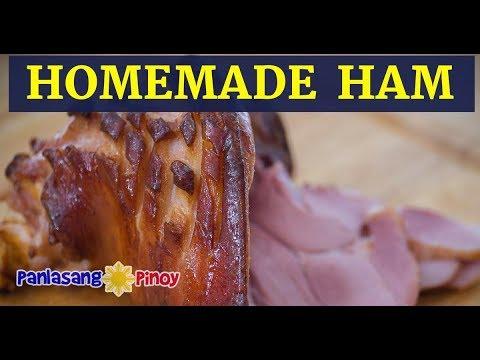 Homemade Cured Ham With Brown Sugar Honey Glaze