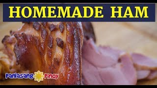 Homemade Cured Ham with Brown Sugar Honey Glaze
