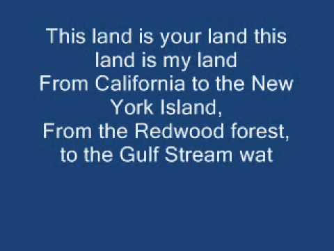 This land is my land, Woody Guthrie