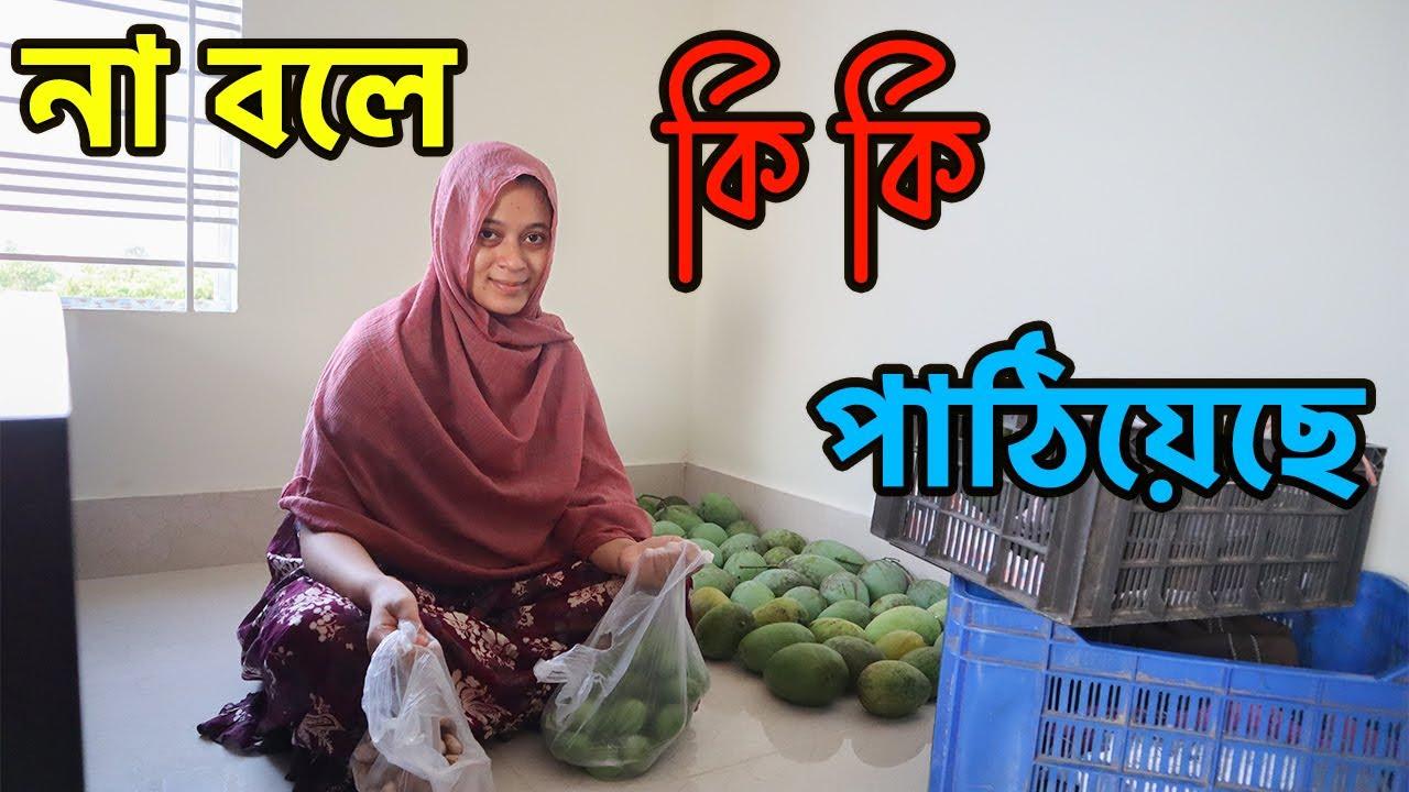না বলে শাশুড়ি আম্মা গ্রামের বাড়ি থেকে কি কি পাঠিয়েছে? || Couple Vlogs