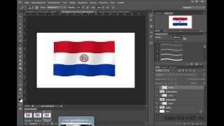 Развевающийся флаг в фотошопе (статика + анимация)