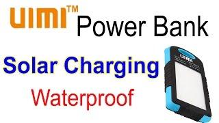 UIMI U3 solar and waterproof power bank