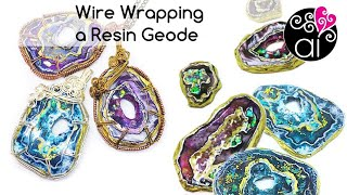 Tutorial Wire Wrapping a Resin Geode