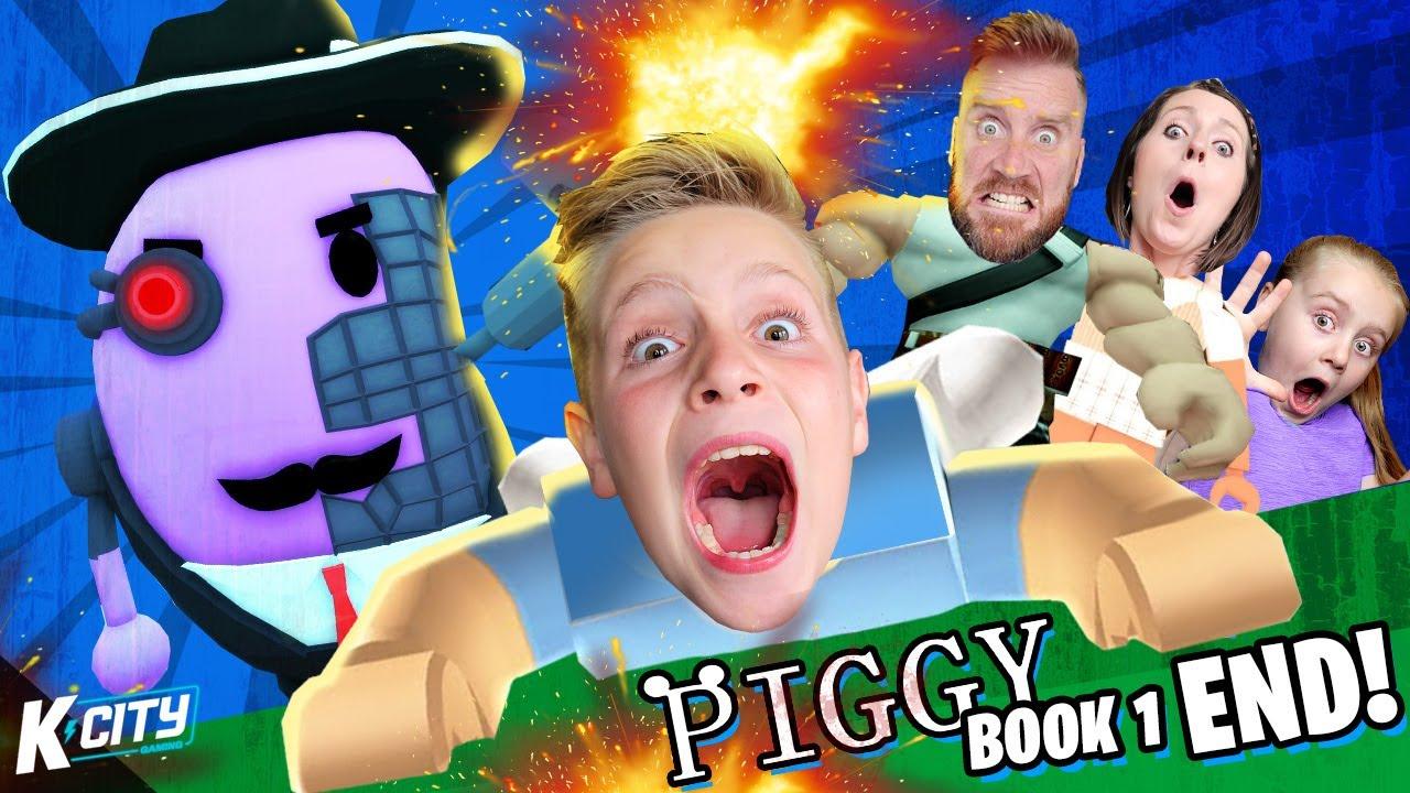 Purple Piggy Nightmare Escape!! (DadCity gets RIPPED) Roblox Piggy Book 1 End!! K-CITY GAMING