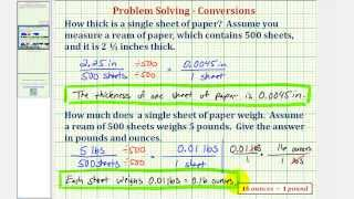 Ex: Determine the Thickness and Weight of a Piece of Paper