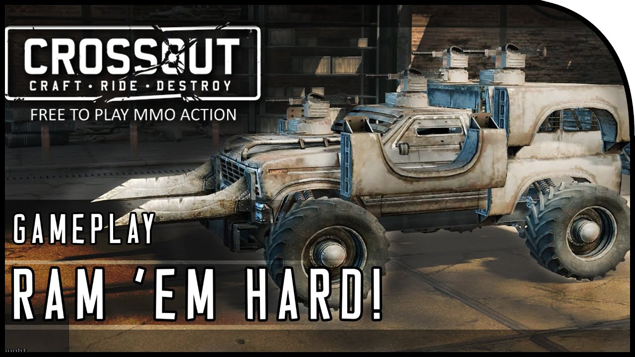 "Crossout Beta Gameplay Part 4 - ""RAM 'EM HARD & DRIVE-BY ..."