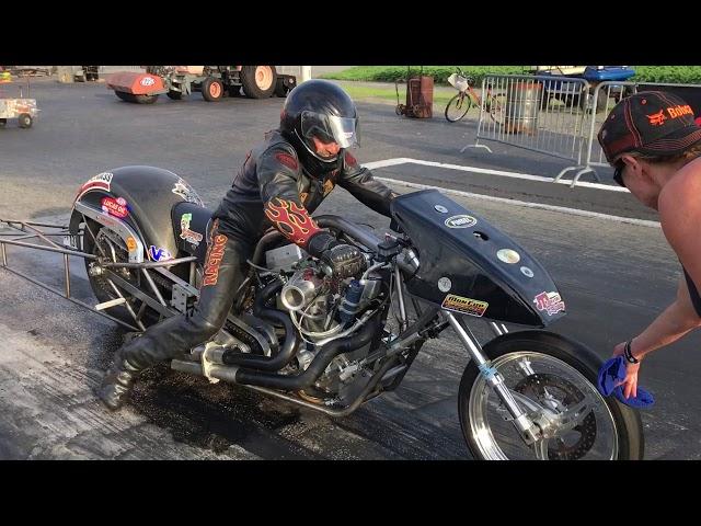 Pro Fuel Harley Davidson Dragbike Husband and Wife Team
