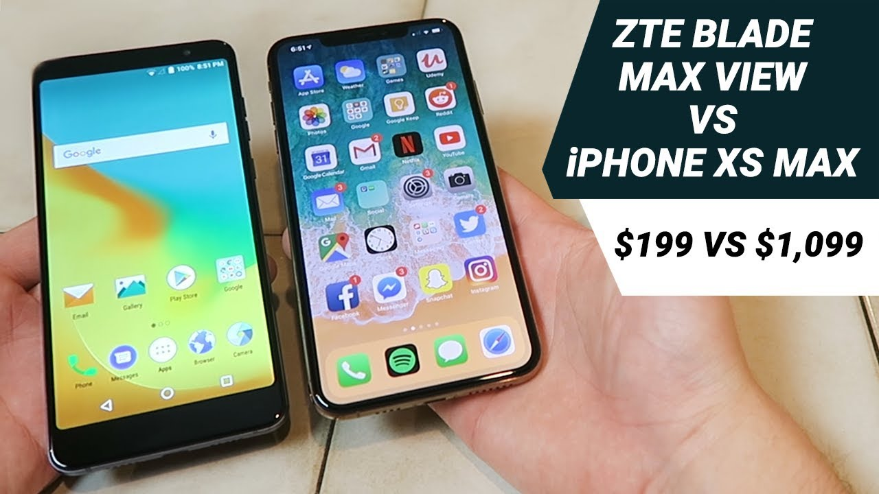 ZTE Blade Max View vs iPhone XS Max - Which is Better?