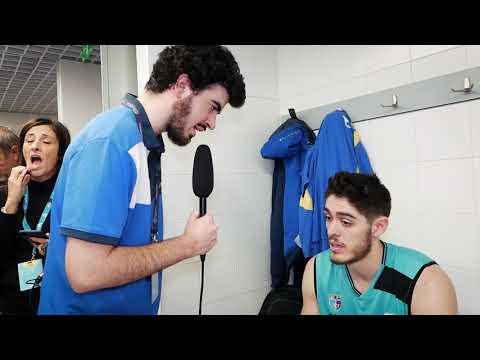 Vestuarios Movistar Estudiantes - Valencia Basket con Vicedo, Brown y Cook