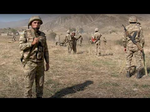 Azerbaycan askerleri, Ermeni mevzilerini topçu ateşiyle dövüyor / 20.10.2020