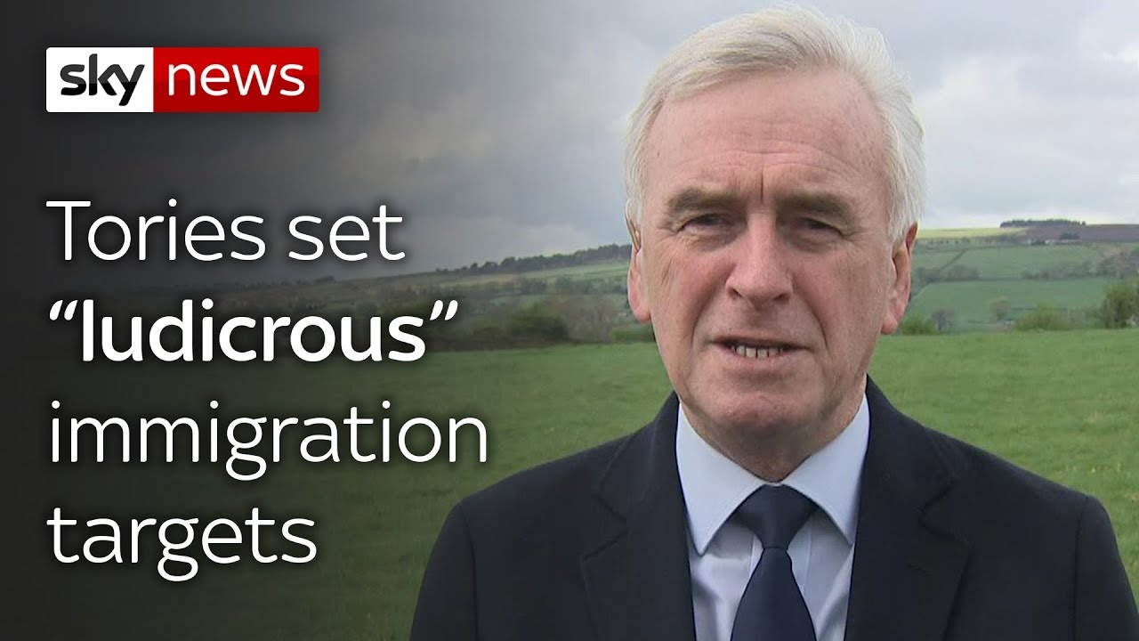 """McDonnell: Tories set """"ludicrous"""" immigration targets"""