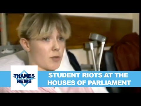 Student Riots at the Houses of Parliament | Thames News