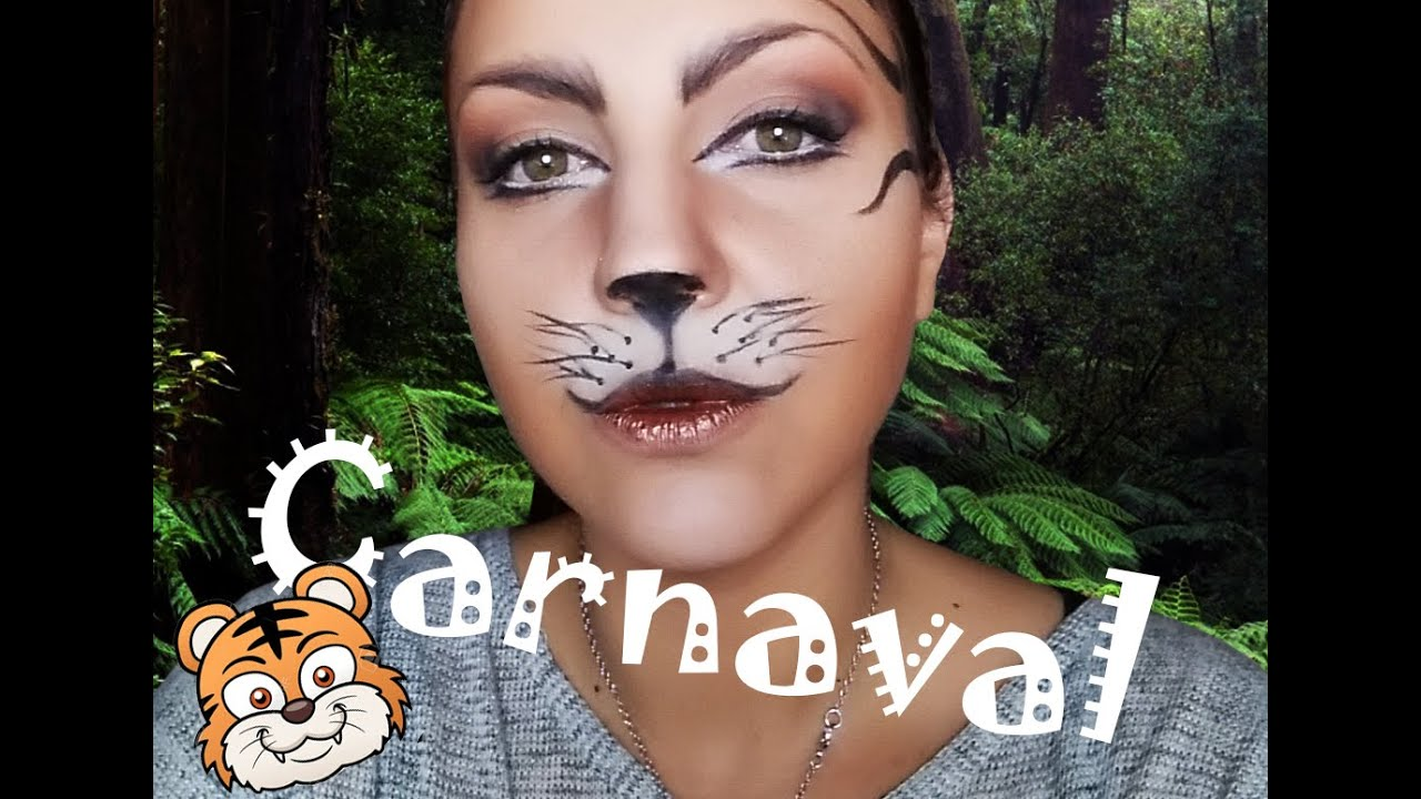 Maquillaje Carnaval Tigre Muy Fácil Youtube