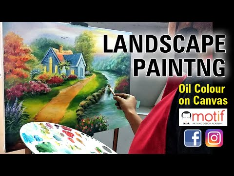 Landscape painting Oil Colour on Canvas