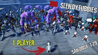 1 VS 100 Slendytubbies | Multijugador Online | SANDBOX 1.29